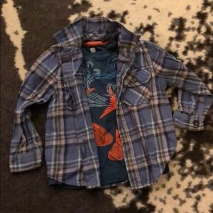Tea collection boys soft flannel button up